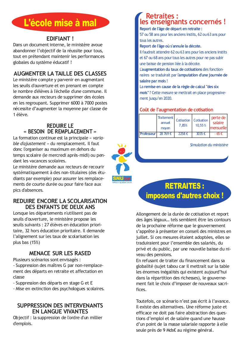 verso tract SNuipp 24 juin